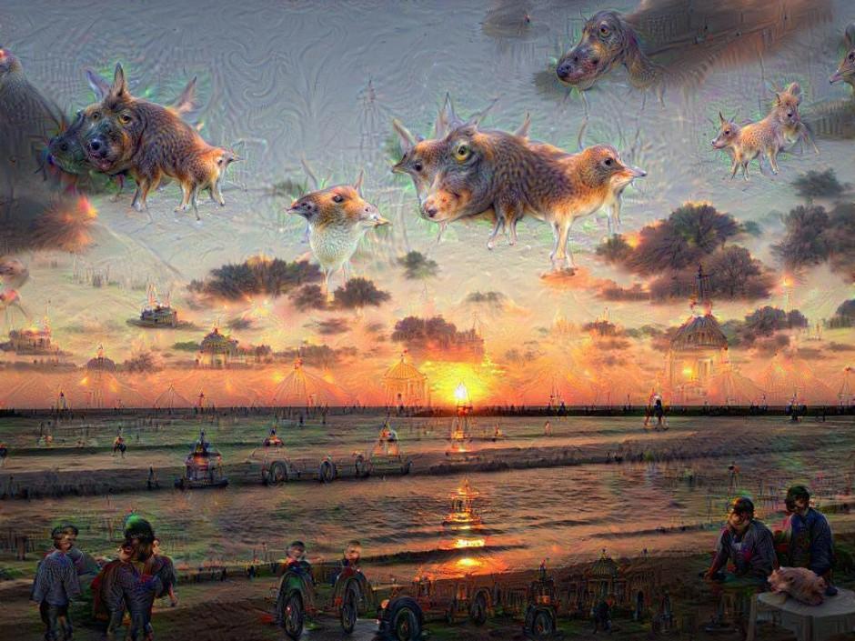 sunset-deep-dream-weird